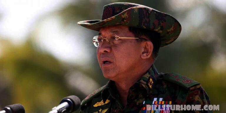 """มินอองหล่าย สาบานว่าจะปกป้องประชาธิปไตย ผู้นำทหารของเมียนมาร์ได้ให้คำมั่นสัญญาว่าจะ """"ปกป้องประชาธิปไตย"""" เนื่องจากรัฐบาลพม่า"""